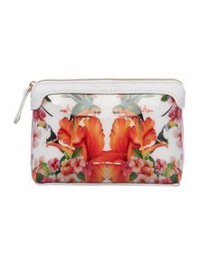 Picardy multi-coloured tropical cosmetic bag
