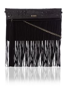 January fringed clutch handbag