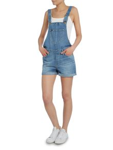Bib front dungarees short in spring journey