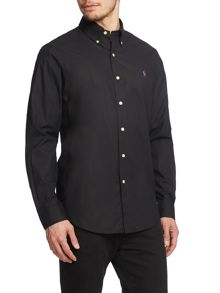 Polo Ralph Lauren Plain Long Sleeve Button Down Shirt