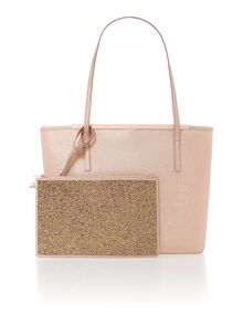 Jasmena rose gold large saffiano tote bag