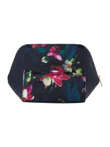 Huggi navy large cosmetic bag