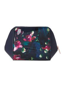 Aslyn navy small cosmetic bag