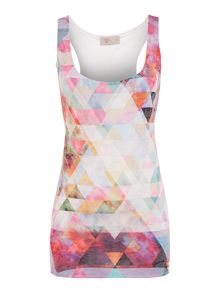 Triangle print burnout vest