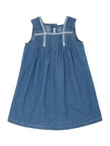 Newborn denim dress