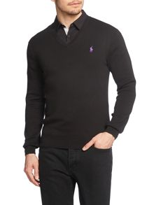 Pima Cotton V-Neck Jumper