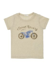 Benetton Newborn motorbike racing short sleeve tshirt