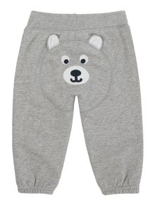 Newborn track pant with bear applique