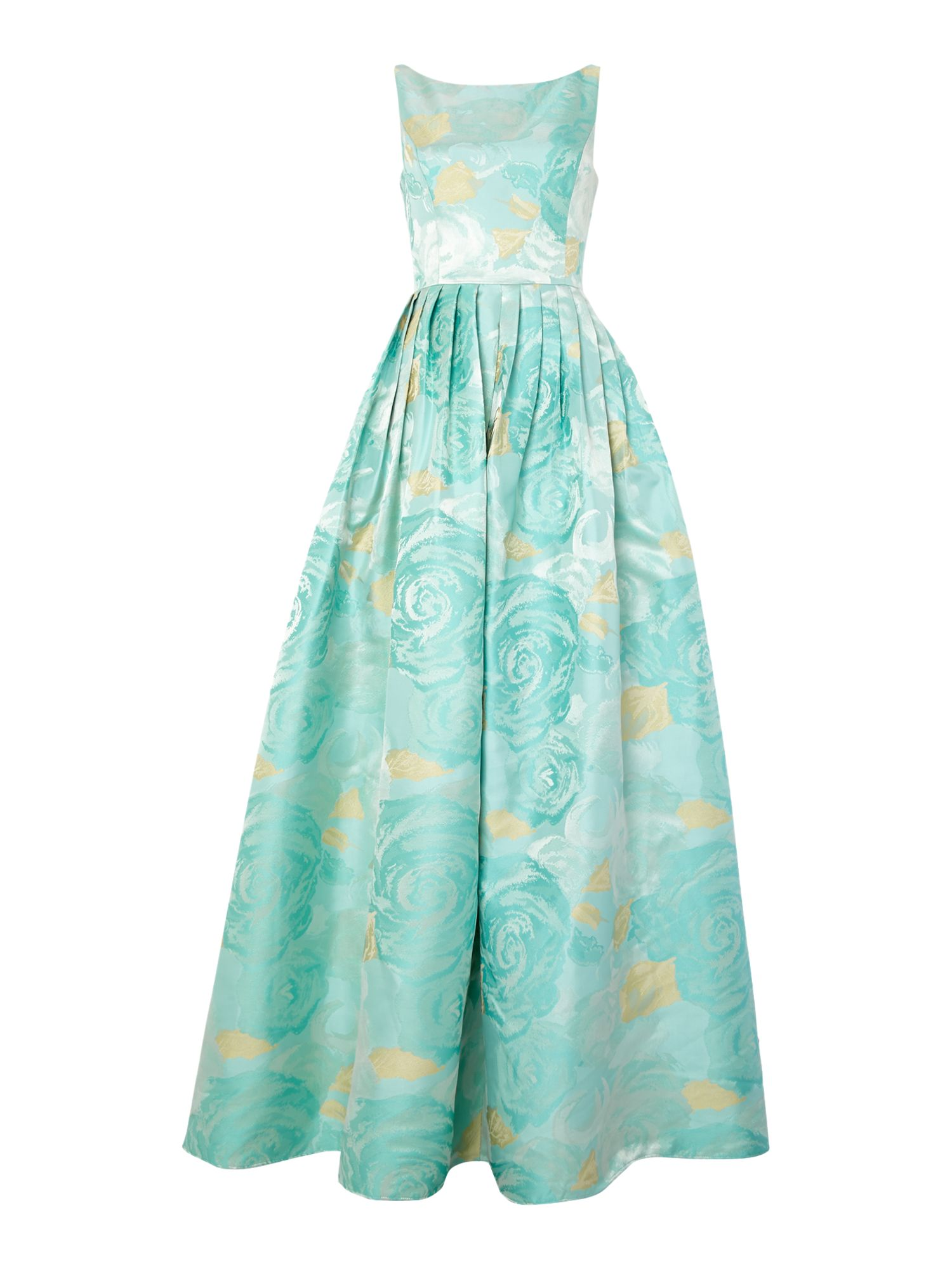Adrianna Papell Floral jacquard gown $250.00 AT vintagedancer.com