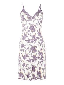 Delicate Lace Sunset Floral Jersey Chemise