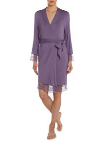 Delicate Lace Jersey Robe