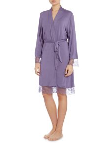 Linea Delicate Lace Jersey Robe