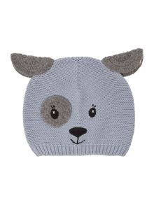Newborn dog print hat