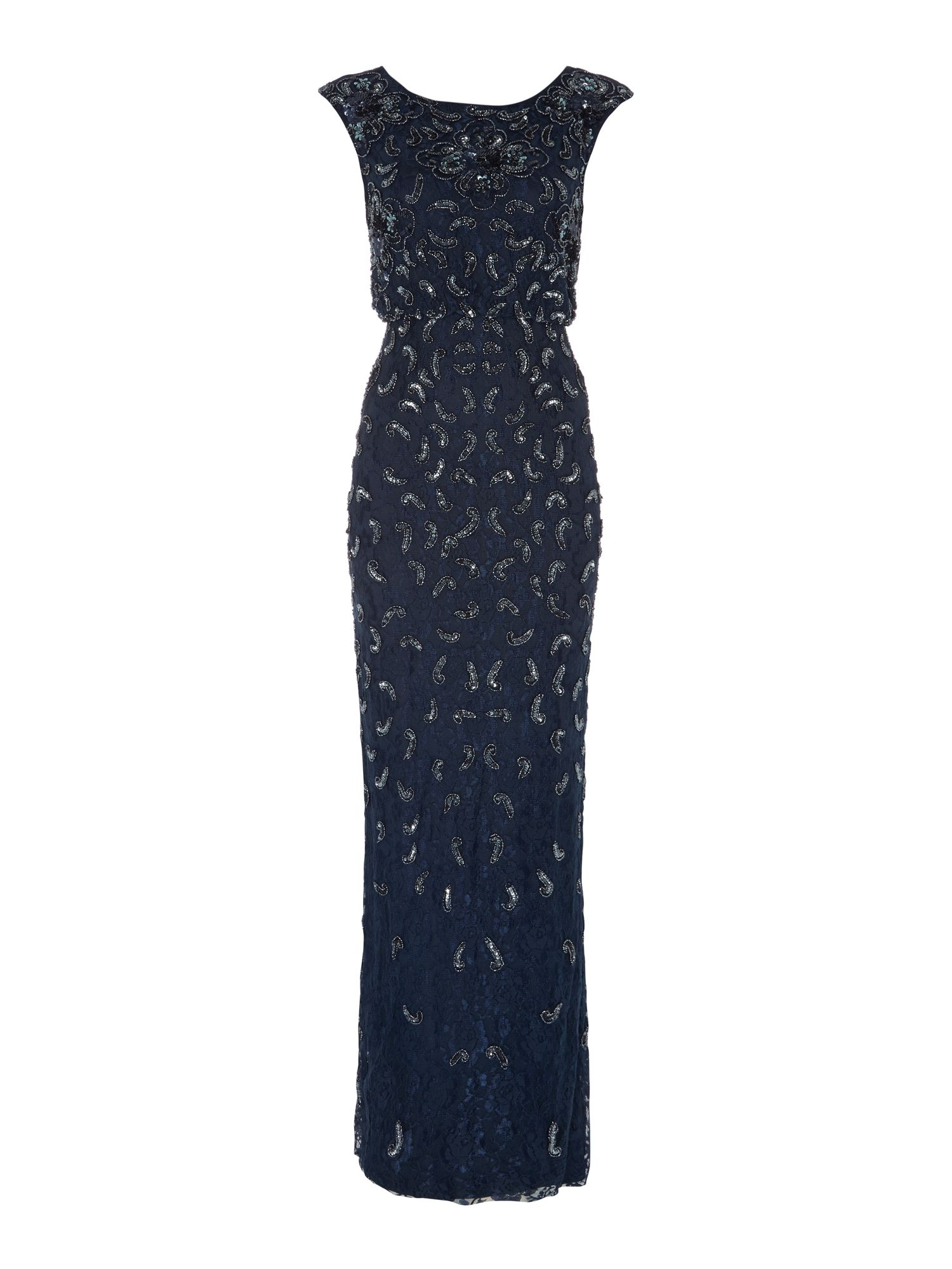 Adrianna Papell All over lace gown with sequin detail $330.00 AT vintagedancer.com