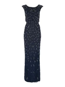 Adrianna Papell All over lace gown with sequin detail