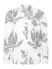 Paul Smith Jeans Print Long Sleeve Button Down Shirt