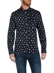 Pattern Classic Fit Long Sleeve Shirt