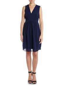 Hoss Intropia v neck waisted dress