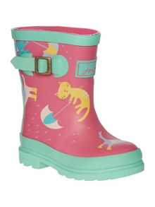 Baby Girls Raining Cats And Dogs Welly