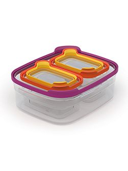 Joseph Joseph Nest Compact Storage Container Set, Multi-Colour