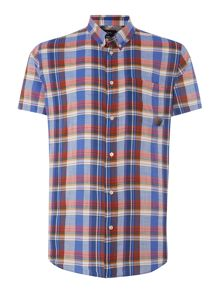 Paul Smith Jeans Check Classic Fit Short Sleeve Shirt