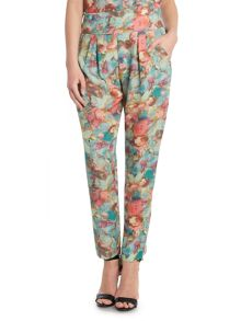 Tapered print trousers