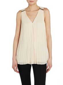 Hoss Intropia Sleeveless pleated top