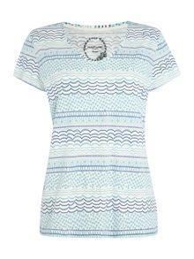 Squiggle stripe table tee