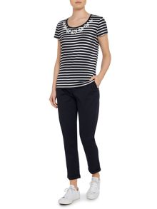 top stripe embellsihment table tee