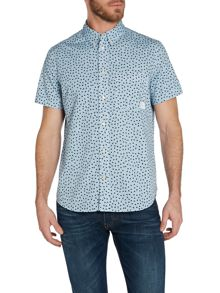 Paul Smith Jeans Pattern Short Sleeve Button Down Shirt