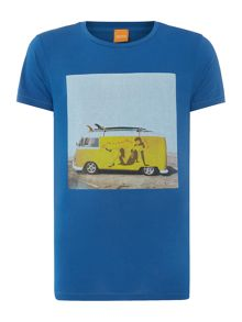 Crew Neck Regular Fit T Shirt In Campervan Print