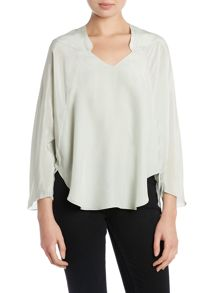 V neck poncho top