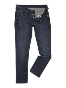Dark Wash Mid Rise Jeans