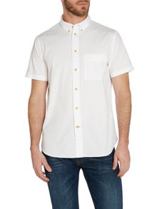 Paul Smith Jeans Plain Classic Fit Short Sleeve Button Down Shirt