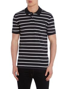 Block Striped Polo Shirt