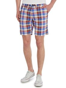 Madras Check Cotton Shorts