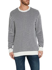 Paul Smith Jeans Pattern Crew Neck Pull Over Jumper