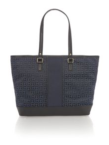 Elisabetta black large tote bag