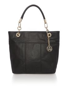 Signature black tote bag