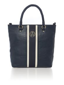 Claire navy tote bag