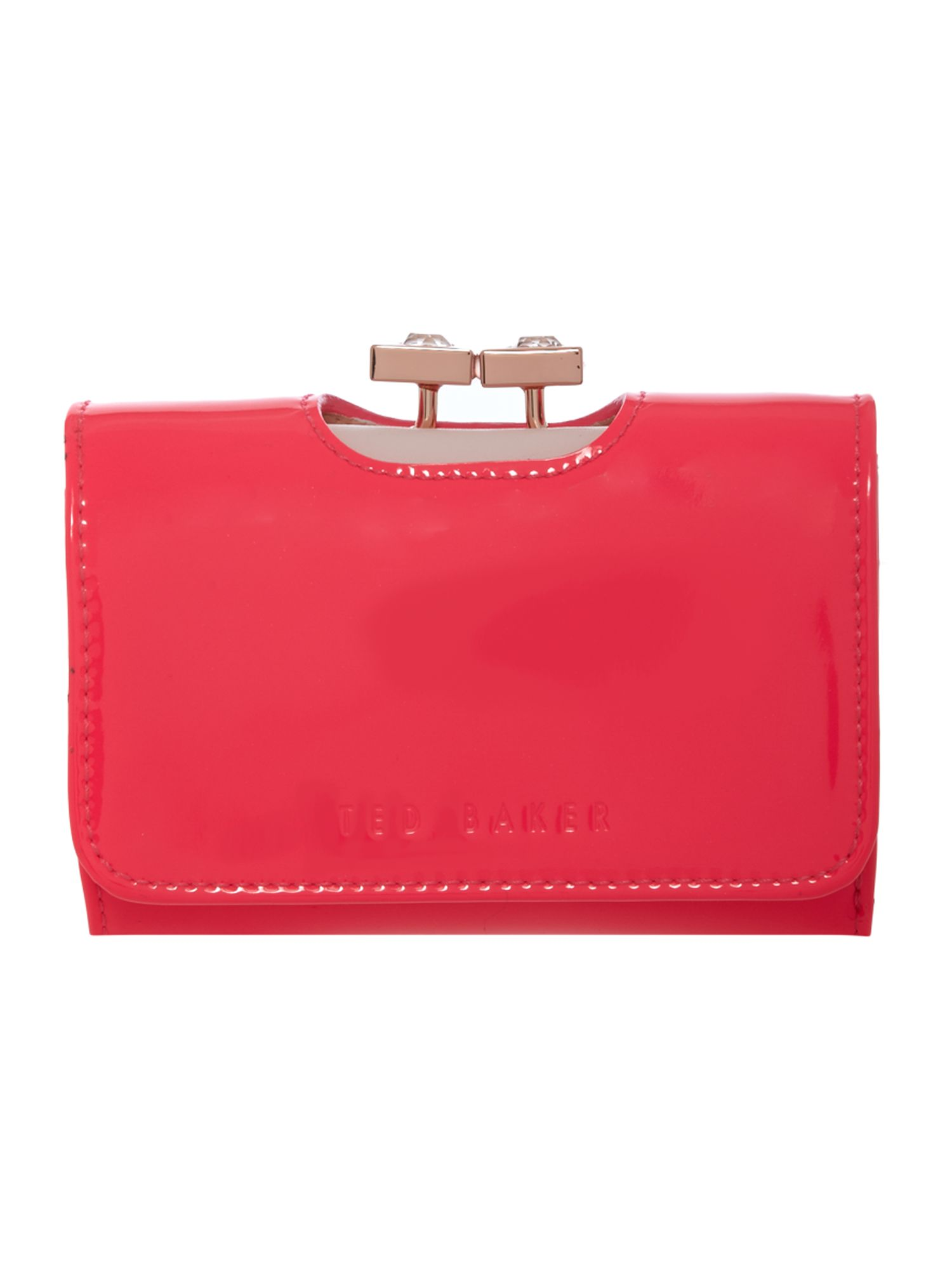 Ted Baker Samittia pink small crystal flap over purse