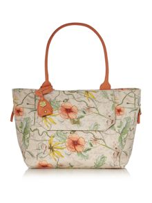 Venice multi coloured print tote bag