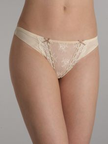 Heidi Klum Intimates Amelie retro cream thong