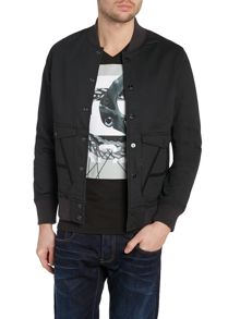 Casual Showerproof Button Bomber Jacket