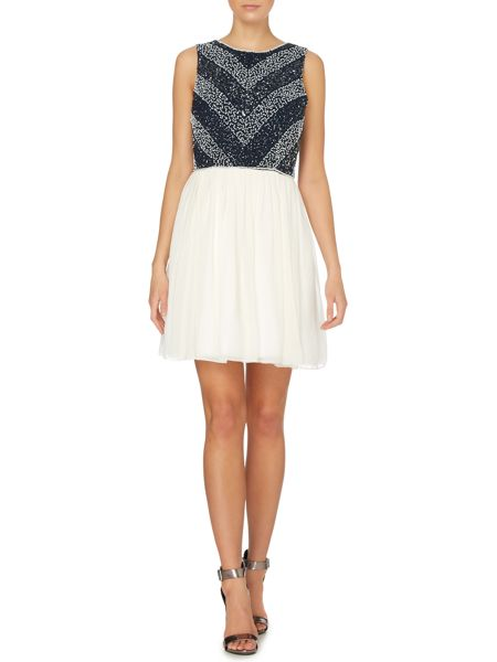 Lace and Beads Sleeveless full sequinned top dress