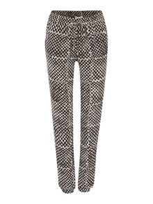 Printed track style trousers