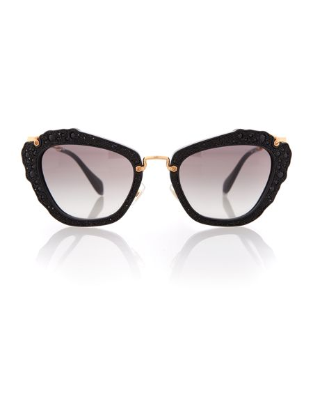 Miu Miu 0MU 04QS Cat Eye Sunglasses