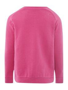 Girls jewel neck sweat