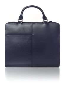 Clerkenwell navy large tote bag