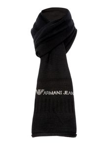 Diamante letters logo wool blend scarf